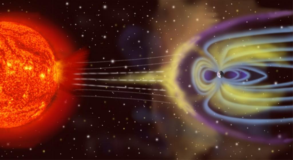 O campo eletromagnético é vital para a atmosfera da Terra
