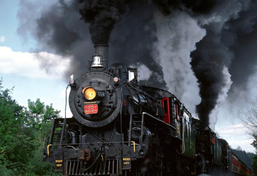 Os motores à vapor foram o grande propulsor do progresso.